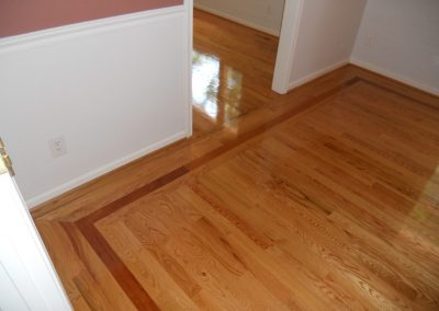 "3"" Select Red Oak With Brazilian Cherry Border"