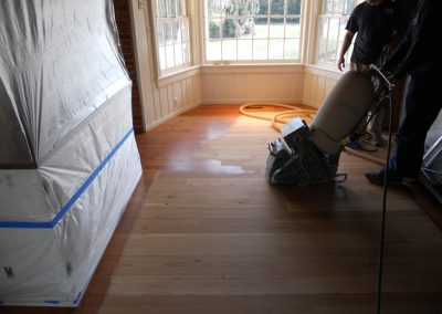 Heart Pine Refinish, Before