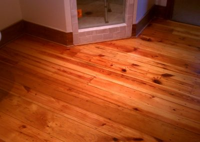 Heart Pine Refinish, After