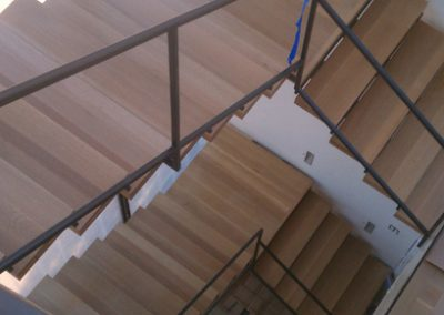 "Custom 2 and 1/4"" Select Quartersawn White Oak Staircase"