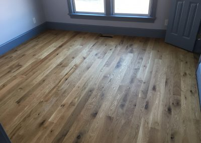 4 inch sound character white oak with Monocoat Pure finish