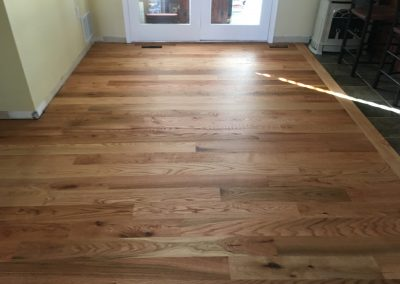 5 inch sound character red oak with Monocoat Pure finish 2